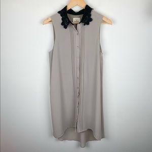 UO Pins & Needles Lace Collar Tunic Dress Size M